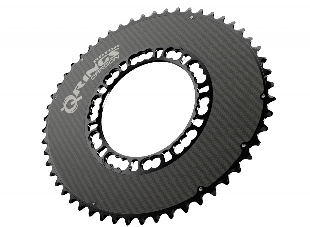 ROTOR Qarbon Q-Ring - Aerodynamisch optimiertes, ovales Kettenblatt der Premiumklasse