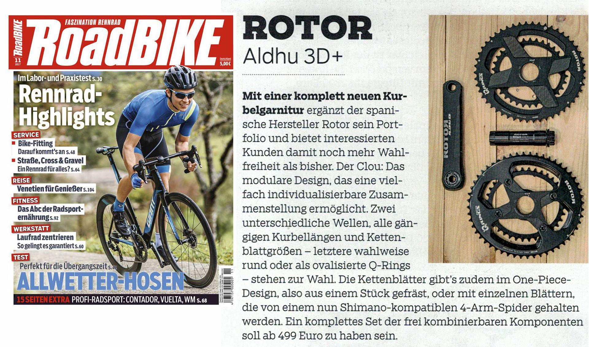 ROTOR ALDHU 3D+ in der Roadbike
