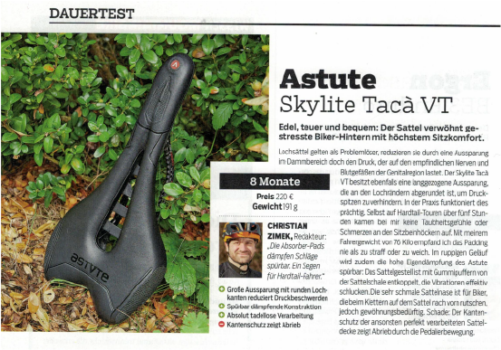 Dauertest Astute Skylite Tacà VT in MOUNTAINBIKE