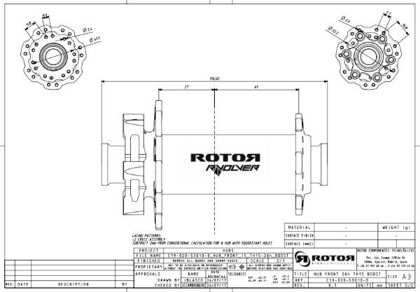 Rotor Rvolver Speichenlängen