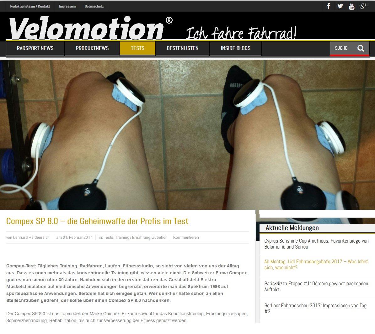 Compex im Test - Velomotion