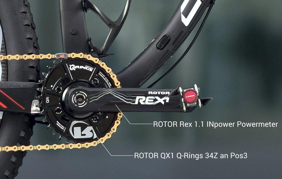 Centurion Numinis Teambike Daniel Gathof - mit Rotor Rex 1.1 INpower und QX1 Q-Rings