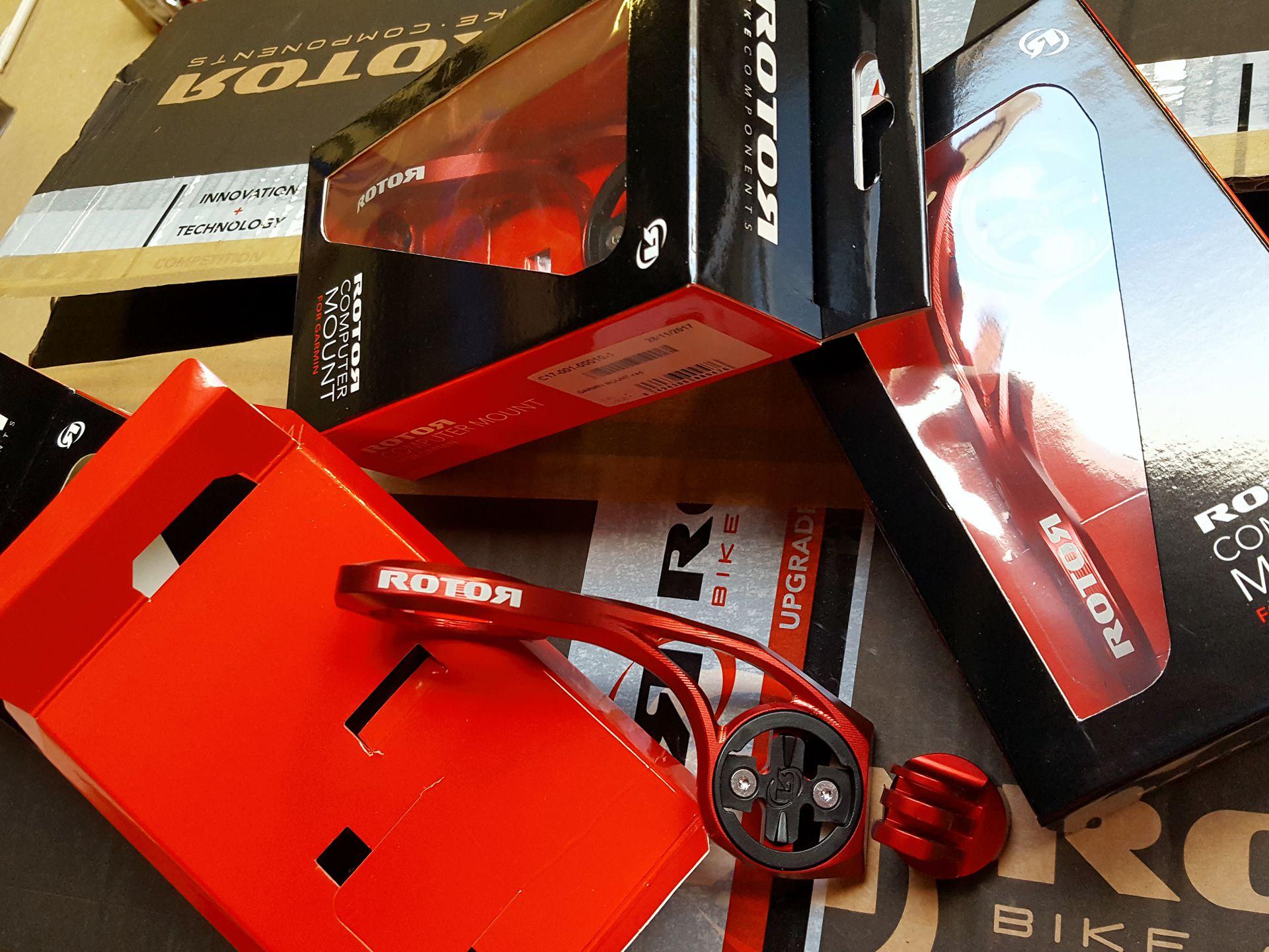 NEU ab Januar 2018: Der rot eloxierte ROTOR-Halter für Garmin und GoPro