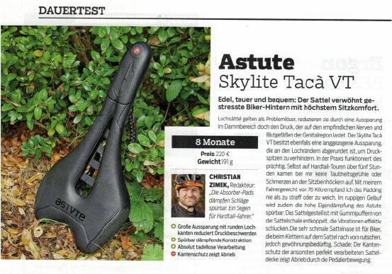 Dauertest Astute Skylite Tacà VT in MOUNTAINBIKE