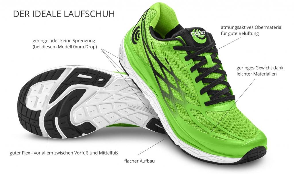 Natural Running - der ideale Laufschuh mit geringer oder keiner Sprengung