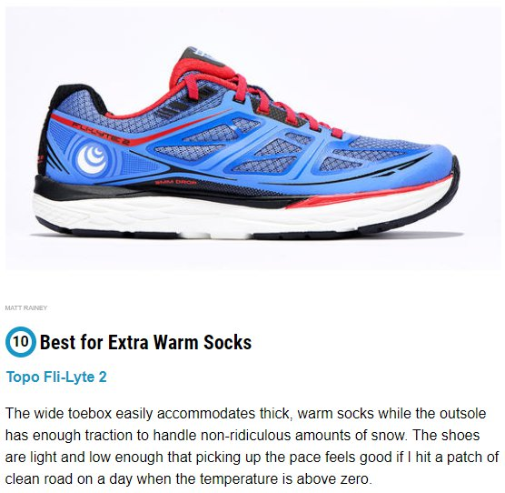 TOPO Fli-Lyte 2 in RUNNERS WORLD UK 2018