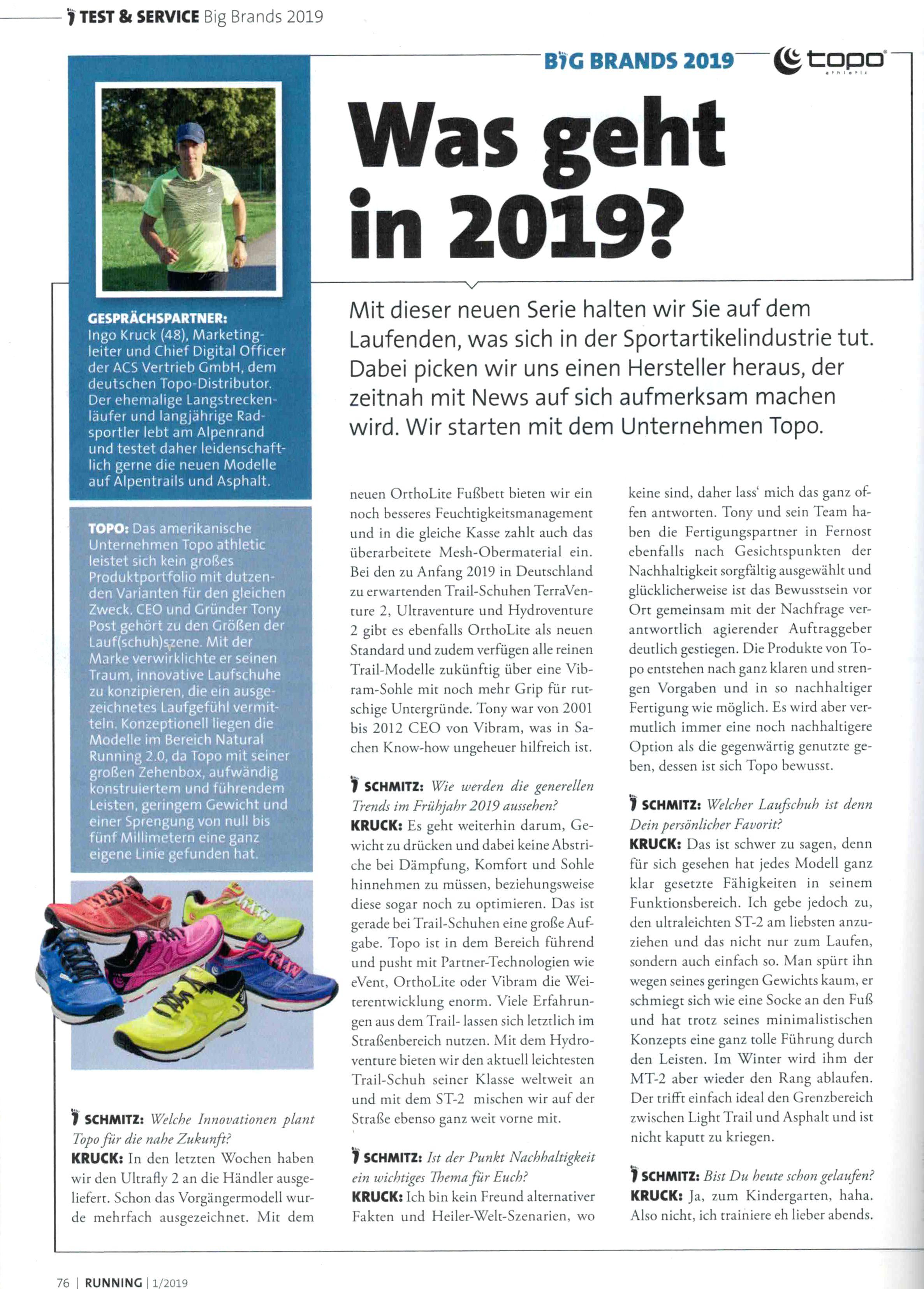 TOPO in der RUNNING - 12/2018