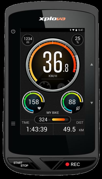 Xplova X5 Evo - GPS-Radcomputer mit Actioncam