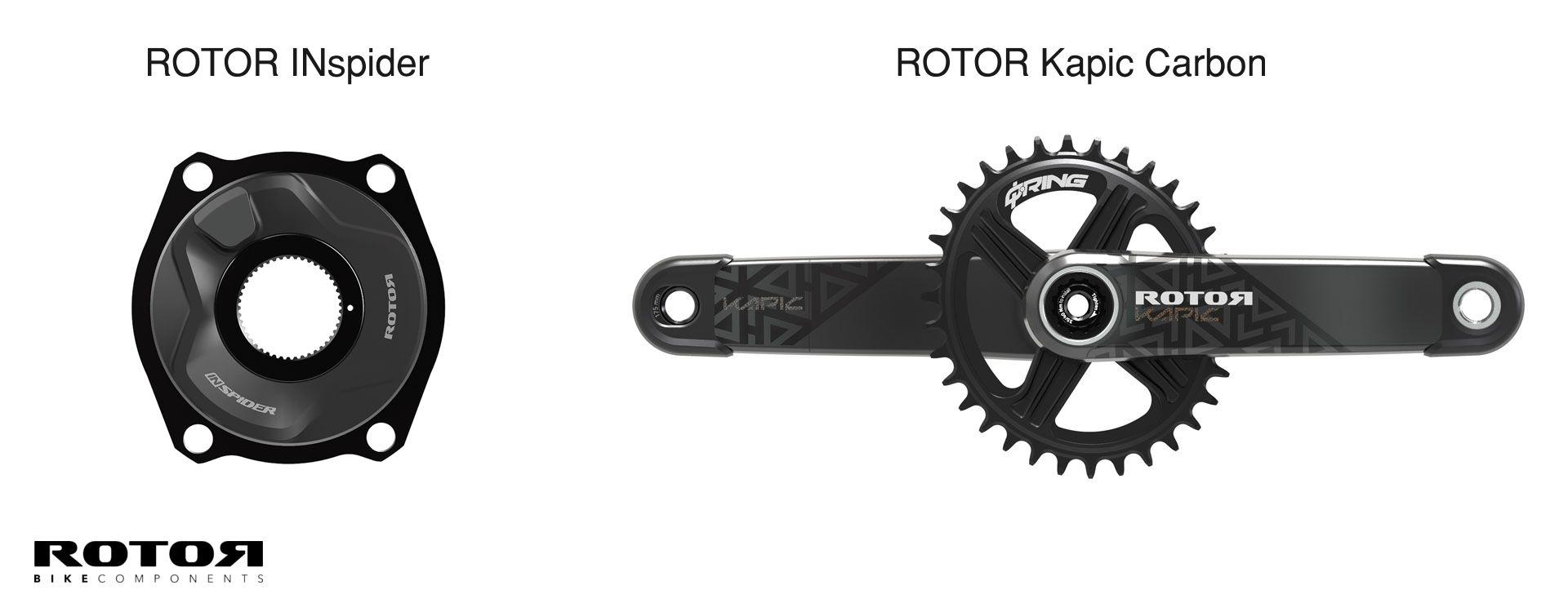 ROTOR INspider Powermeter und Kapic Carbon