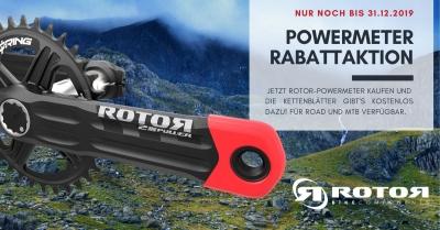 ROTOR Promotion - Leistungsmesser kaufen, Kettenblätter kostenlos